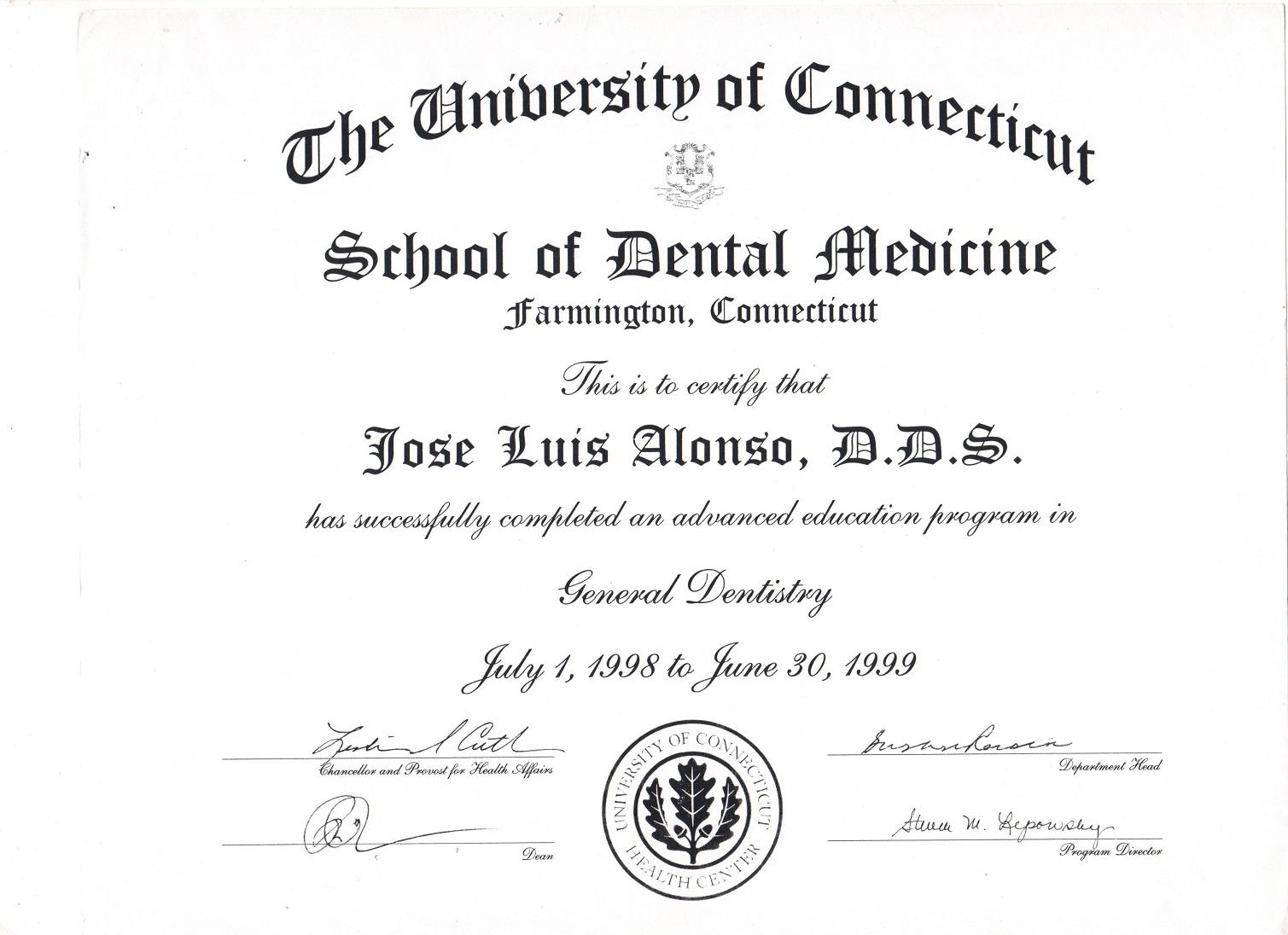 6- CERTIFICADO UNIVERSIDAD CONNECTICUT 1999 1